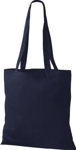 Shirtinstyle - Bolso de tela para mujer negro negro azul - french navy