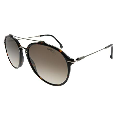 Carrera 171/S 086 HA Dark Havana Plastic Aviator Sunglasses Brown Gradient -