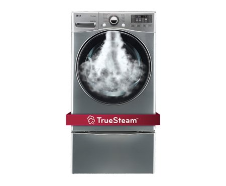 LG DLEX3470VSteamDryer 7.3 Cu. Ft. Graphite Steel Stackable With Steam Cycle Electric Dryer