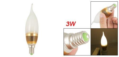 eDealMax 2700K 1x3W de la lámpara LED de bulbo de la vela E14 Tornillo Base de la luz ámbar - - Amazon.com