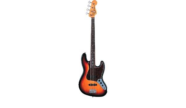 Fender 0131800300 60s Jazz Bass guitarra eléctrica de madera de palisandro diapasón de 3 colores: Amazon.es: Instrumentos musicales