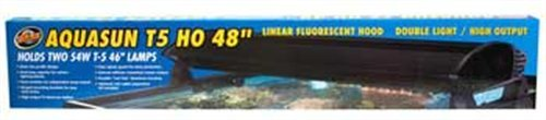 Zoo Med AquaSun T5-HO Double Light Linear Fluorescent Hood, 48-Inch by Zoo Med