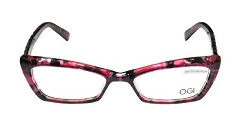 Ogi 3109 WomensLadies Optical Gorgeous Cat Eye Full-rim EyeglassesEyeglass Frame (51-16-140 Pink  Multicolor)