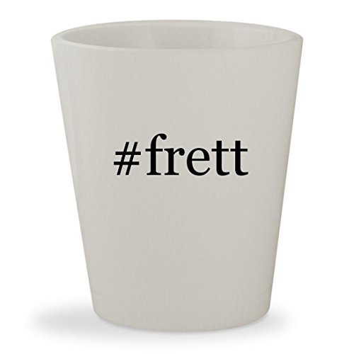#frett - White Hashtag Ceramic 1.5oz Shot Glass (Towel Frette Hand)