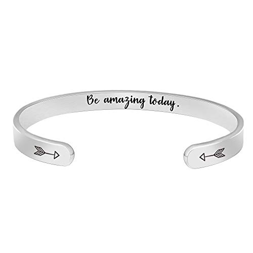 Inspirational Bracelets for Women Birthday Gifts Cuff Bangle Friendship Mantra Jewelry Come Gift Box