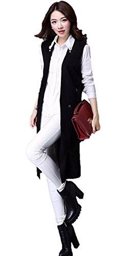 おかしいアーティキュレーションエクステント【SEBLES】レディース ベスト 羽織り ジレ ロング 薄手 春 長い 大きいサイズあり ボタン
