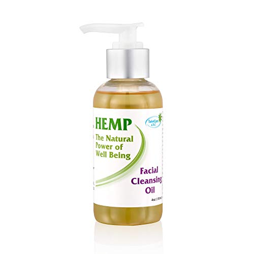 Natural Facial Cleanser for Aging Skin for Women Over 50, Gentle Moisturizing Face Wash with Pump, Organic Skin Care for Dry Skin, Antioxidant & Anti Aging Properties by Hemp Seed & Essential Oils