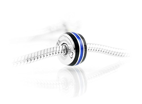 Thin Line Thin Blue Line Police Charm Cobalt Blue And