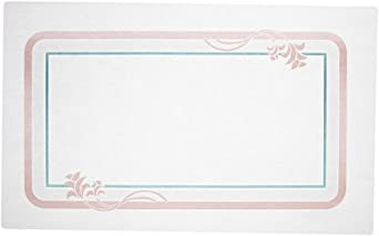 """Dinex DXR30840E Paper Floret Tray Cover with Straight Edge/Small Corner, 18"""" Length x 11"""" Width, Size E (Case of 1000)"""
