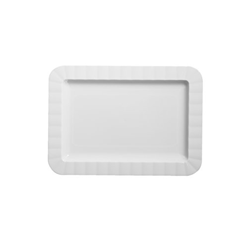 Party Essentials N577004 70 Count Deluxe Rectangular Appetizer Plates, 5 by 7