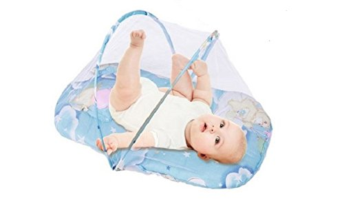 MD Group Baby Cotton Padded Mattress New Foldable Pillow Warm Bed Mosquito Net Crib Tent
