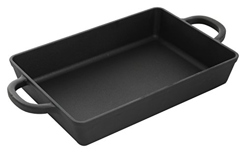 Crock Pot 112010.01 Artisan 13 Inch Preseasoned Cast Iron Rectangular Lasagna Pan