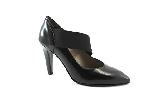 Mujer del MELLUSO elástico Piel Negros pie Zapatos Escote talón E5057 Nero Dedo qqn6tx7