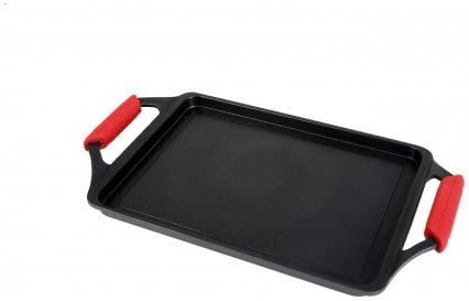 Wecook Bandeja asadora, Aluminio, Negro/Rojo, 43x25x5 cm