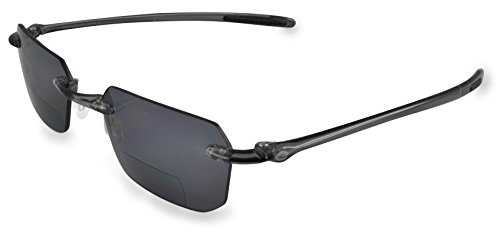 Optx 20/20 Ecoclear Vapour Bifocal Sunglass Reader, Black, - Optx Sunglasses