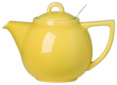 London Pottery Geo Teapot with Stainless Steel Infuser, 2 Cup Capacity, Lemon Yellow