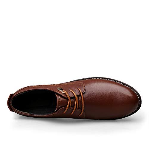 Marrone cravatta Business all'abrasione Casual scarpe Color Resistente Dimensione Sunny semplice stile Nuovo 39 EU formali amp;Baby tondo Oxford testa classico Men's Nero BqcxwEP1
