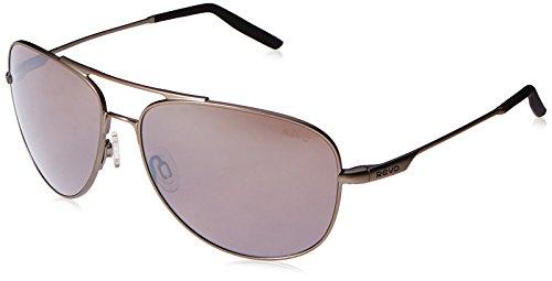 Revo Windspeed RE 3087 00 GY Polarized Aviator Sunglasses, Gunmetal/Graphite, 61 - Bono Glasses