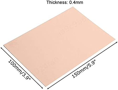 SALAKA 10Pcs 0,4 mm con Revestimiento de Cobre de la Placa PCB Placa de Circuito Placa FR4 Laminado PCB de Circuito Impreso tama/ño 1 // tama/ño 2