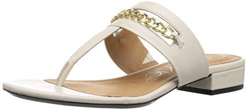 (Calvin Klein Women's Francie Sandal, Soft White, 7.5 Medium US)