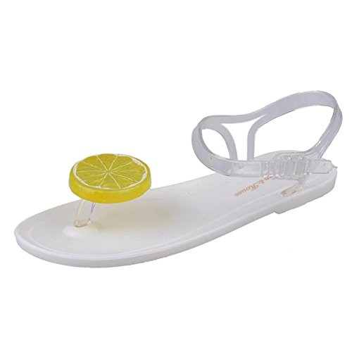 Internet zapatos Blanco de mujeres Sandalias 40 sandalias verano de verano Plata sandalias las Sandalias A sandalias baja de de qz4wEB
