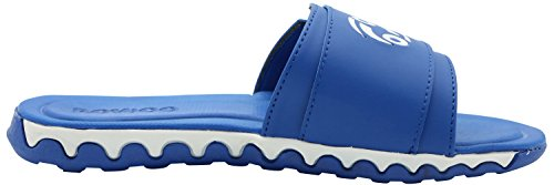 ROWOO Herren Verstellbare Athletische Slip On Beach Slide Sandalen Blau