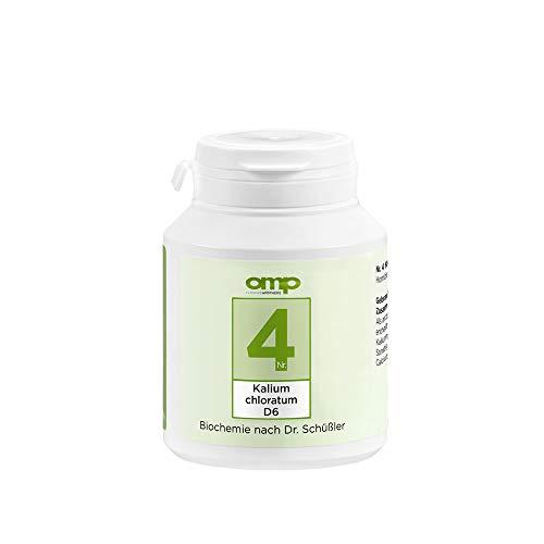 Schüssler Salz Nr. 4 Kalium chloratum D6 | 400 Tabletten | Das Salz der Schleimhäute | glutenfrei