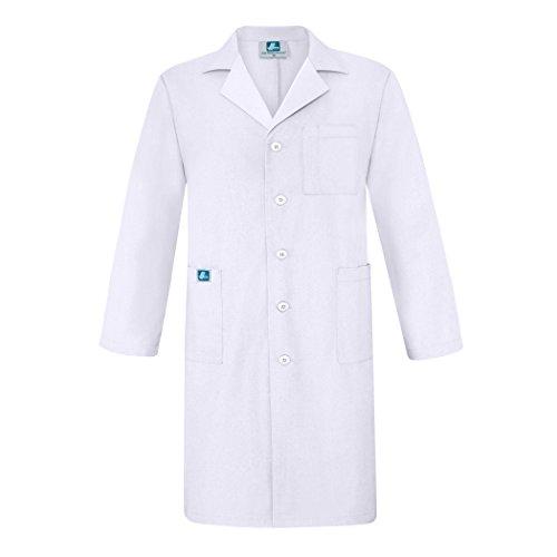 """Adar Universal Mens 39"""" Labcoat with Inner Pockets - 803 - White - 50"""