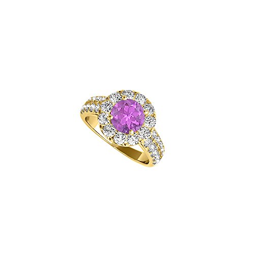 Amazing Jewelry Gift Amethyst and CZ Ring 2.00 TGW