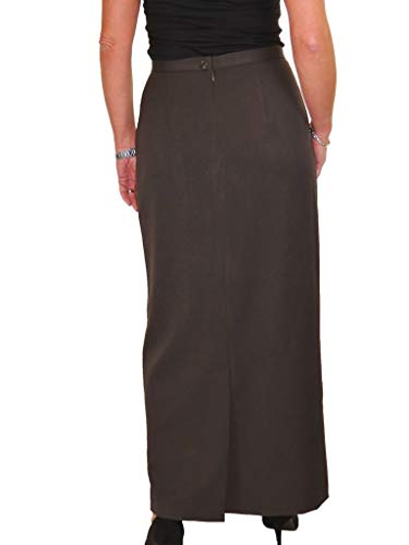 Womens Business Office Formal Pencil Skirt Fully Lined Washable Navy Blue 8-20