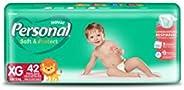 Fralda Descartável Soft and Protect, Personal, Extragrande, Branco, 42 unidades (Embalagem pode variar)