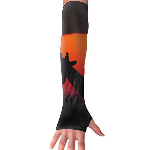 HBSUN FL Unisex Giraffe Profile At Sunset Anti-UV Cuff Sunscreen Glove Outdoor Sport Riding Bicycles Half Refers Arm Sleeves by HBSUN FL