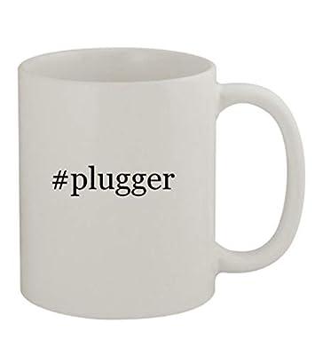 #plugger - 11oz Sturdy Hashtag Ceramic Coffee Cup Mug, White
