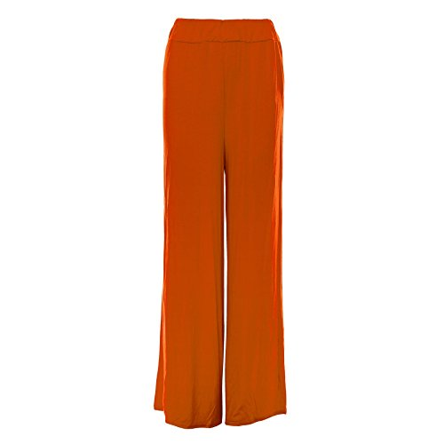 Oops Outlet Women's Baggy Wide Leg Pants Flared Palazzo Leggings Made in UK Plus Size (US 12/14) - Us In Outlets