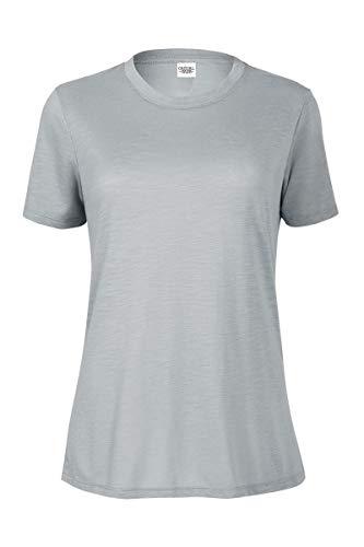 (Casual Garb Women's Slub Crew Neck T Shirt Short Sleeve Tee T Shirts for Women Platinum Medium)