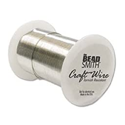 Craft Wire Silver Plated Tarnish Resistant 24 Gauge 30 Yd