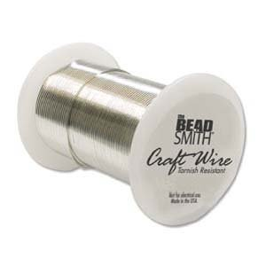 (Beadsmith 22 Gauge Tarnish Resistant Copper Wire, 20 Yard/18.2m, Silver)