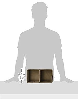 InterDesign Chevron Fabric Closet/Dresser Drawer Storage Organizer, for Underwear, Socks, Bras, Tights, Leggings