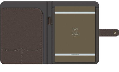 Pierre Belvedere A4/Letter Size Snap Portfolio, Refillable, Chocolate (676480) Photo #2