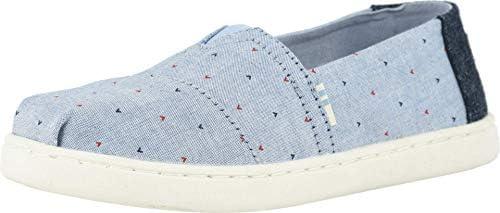 TOMS Girls Espadrille Sneaker, Blue, 2