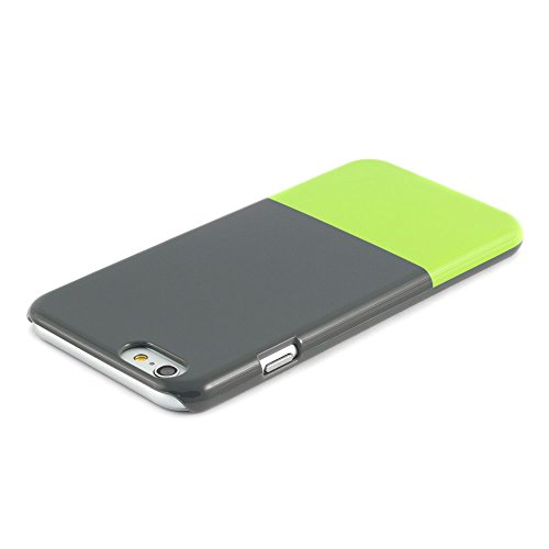 """iPhone 6 Hülle Schutzhülle Case Hartschale (4.7"""") - aus robustem Material - kratzsicheres Hochglanzfinish - Dipped Grau/Grün Design - für 4.7 Zoll Apple iPhone 6 2014 - Proporta"""