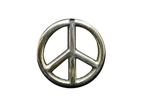 Creative Ventures Jewelry Peace Sign Antique Brass Tone Pendant on Brown Cord Necklace