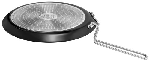 Futura Hard Anodised Induction Model with Flat Bottom Tawa Griddle, Medium, Black
