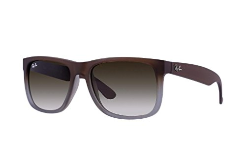 Ray Ban RB4165 854/7Z 51mm Rubber Brown on Gray Justin Sunglasses Bundle-2 - Justin Brown Ban Ray