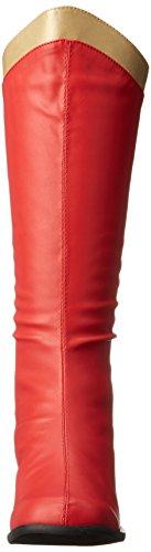 Ellie Shoes Women's 300 Super Boot Red/Gold MrRi0t2