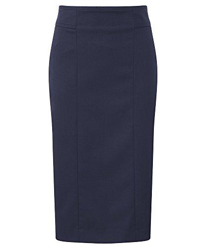 Alexandra Cadenza stc-nf706na-16r Damen Gerade Rock, Uni, 54% Polyester/44% Wolle/2% Elasthan, Regular, Größe 16, Marineblau