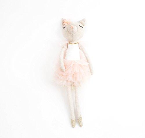 Mon Ami Ballerina Kitty Designer Plush Doll, Multicolor, 15