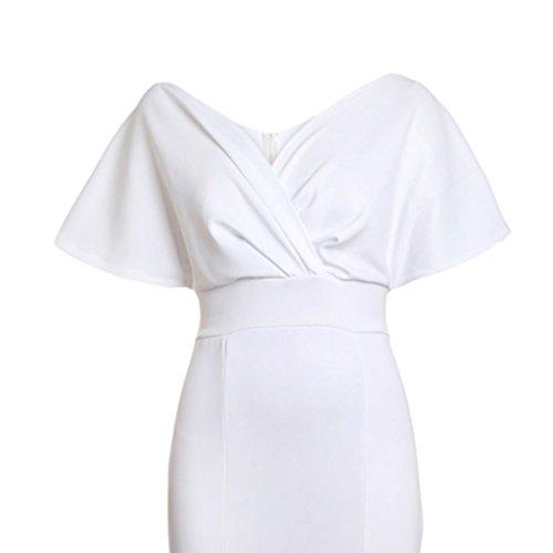 Suave Muchachas Elegante Sensación Regalo Cómoda blanco Homyl Espalda Sin Fiesta Graduación Vestido l Mujeres wpfS6Yq