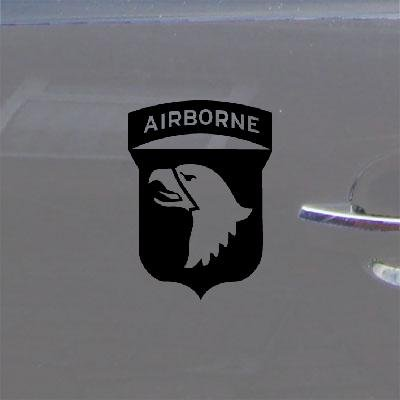 AUTO ART DECORATION WINDOW WALL ART 101ST AIRBORNE SCREAMING EAGLES WWII WALL CAR DECAL STICKER ADHESIVE VINYL VINYL DECOR BIKE HELMET DIE CUT CAR HOME DECOR NOTEBOOK BLACK MACBOOK LAPTOP ()