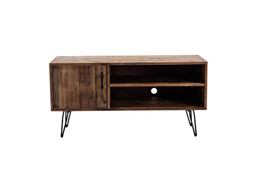 Belmont Home AZ Reclaimed Wood Media TV Stand, Natural